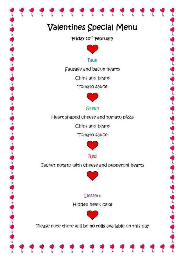 thumbnail of Valentine Special Menu