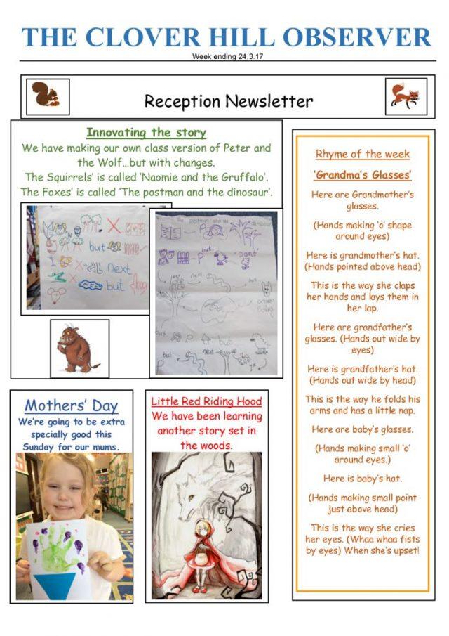 thumbnail of Reception Newsletter 24.3.17