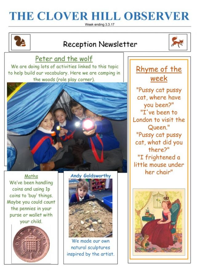 thumbnail of Reception Newsletter 3.3.17