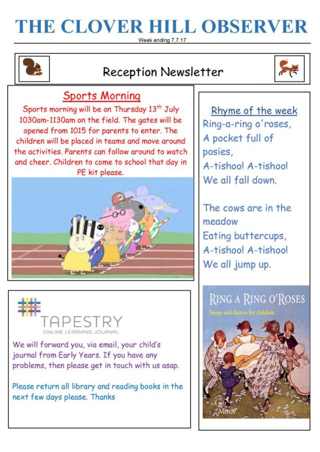 thumbnail of Reception Newsletter 7.7.17