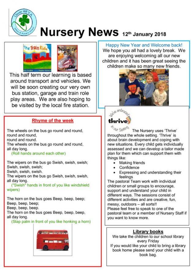 thumbnail of Nursery news 12th January