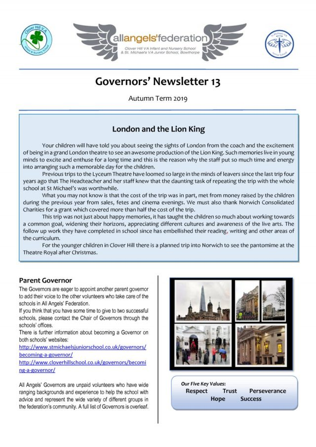 thumbnail of Governors' Newsletter Autumn 2019 No 13